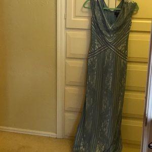 Blue formal lace dress